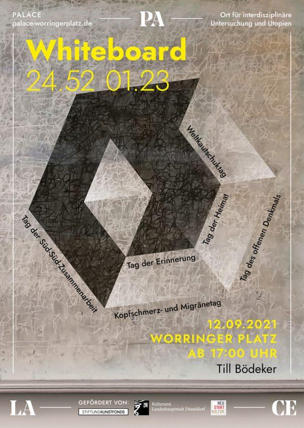 PALACE Worringer Platz Till Bödeker White Board ArtJunk