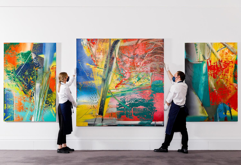 Gerhard Richter Abstraktes Bild Sotheby's ArtJunk